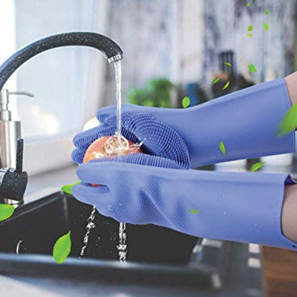 Pack of 2 Cooking Pinch Grip Bowl Clips Kitchen Glove And Magic Dish washing Gloves | 24hours.pk