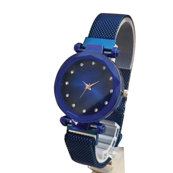 Magnet Chain Elegant Women Wrist Watch Blue | 24hours.pk