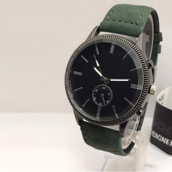 New Roman Watches For Mens Cost Black Dial with Green Belt | 24HOURS.PK