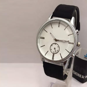 New Roman Watches For Mens Cost White Dial with Black Belt | 24HOURS.PK