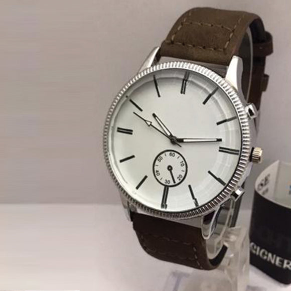 New Roman Watches For Mens Cost White Dial with Brown Belt | 24HOURS.PK
