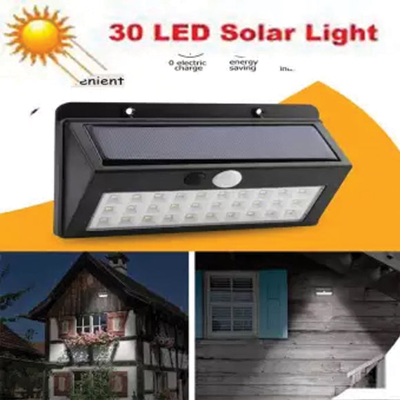 Solar lights Outdoor, 30 LED Waterproof Solar Powered Motion Sensor Security Light | 24HOURS.PK