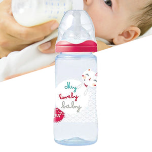 Tigex 300 ML Silicone teat Plastic Feeding Bottle Pink | 24HOURS.PK