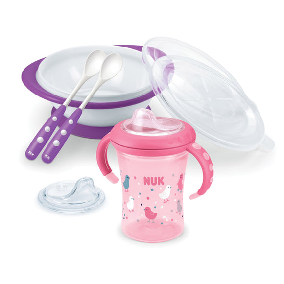 Nuk Learn To Eat Set Girl - 10225131 | 24HOURS.PK