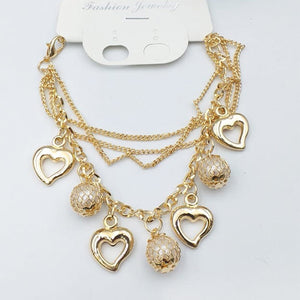 Latest Design Chains With Hearts Design Bracelet For Girls And Women | 24hours.pk