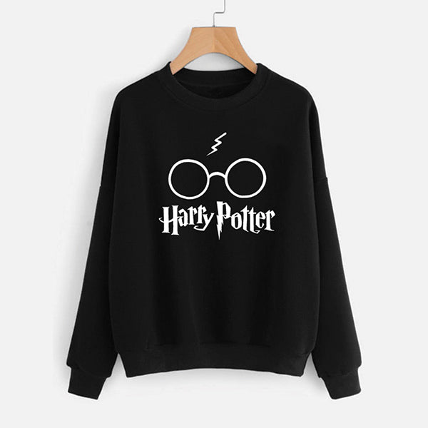 Harry Potter Printed Winter Sweatshirt - Black | 24hours.pk