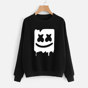 Marshmallow Style 2 Printed Sweatshirt For - Unisex Black | 24hours.pk