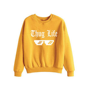 Thug Life Printed Sweatshirt For Unisex Yellow | 24hours.pk