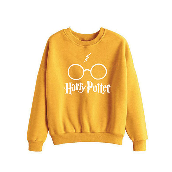 Harry Potter Printed Winter Sweatshirt - Yellow | 24hours.pk