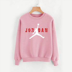 Jordan Printed Winter Unisex Sweatshirt Pink | 24hours.pk