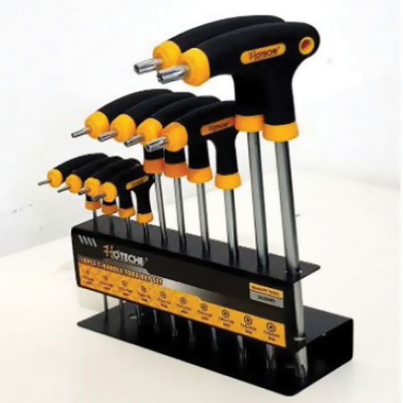 Hoteche 10Pcs T-Handle Torx Hex Key Set With Metal Frame 262009 | 24hours.pk