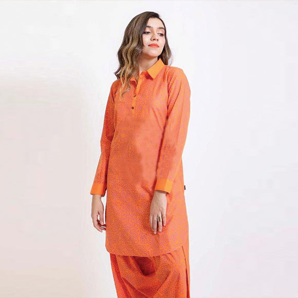 Orange Candy Style Suit For Womens | 24hours.pk