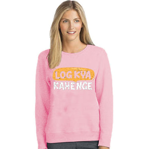 Log Kya Kahenge Printed Winter Sweatshirt Pink For Unisex | 24HOURS.PK