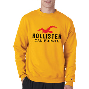 Holister California Winter Sweatshirt For Unisex Yellow | 24hours.pk
