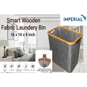 Smart Wooden Fabric Laundry Basket | 24HOURS.PK
