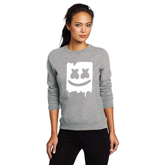 Marshmallow Style 2 Printed Sweatshirt For - Unisex Grey | 24hours.pk