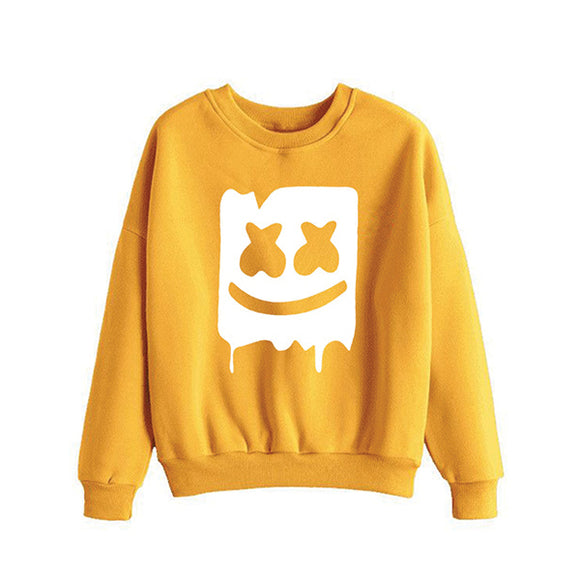 Marshmallow Style 2 Printed Sweatshirt For - Unisex Yellow | 24hours.pk