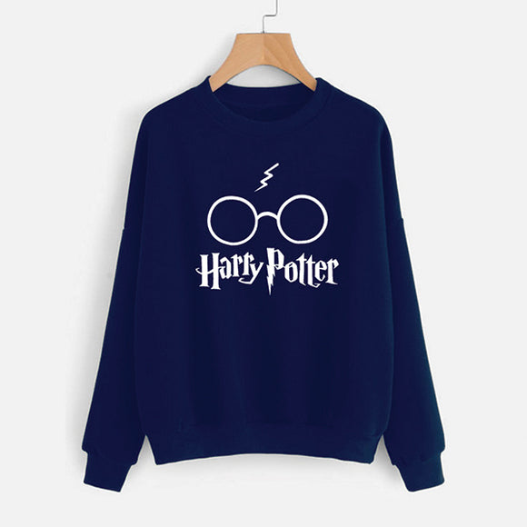Harry Potter Printed Winter Sweatshirt - Blue | 24hours.pk