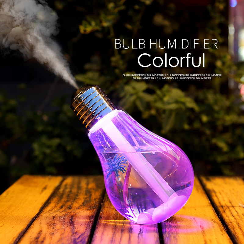 400ML Air Humidifier Ultrasonic Aroma Essential Oil Diffuser Ultrasonic Cool Mist Humidifier Air Purifier 7 Colo LED Night light (0001) | 24HOURS.PK