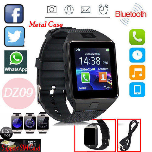 Pack of 2 DZ09 Smart Watch Android  Smartwatch with TF Card Camera (0231)