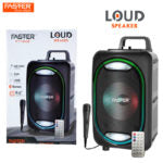 FASTER FT-603 Hi-Fi Bass Sound 6.5-inch Bluetooth Portable Party Speaker with Mic