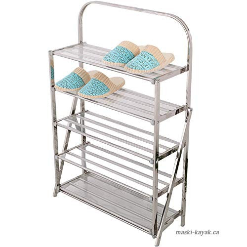 Shoe Rack Stainless Steel Folding Simple Multi-Layer Creative Shoe Rack | 24hours.pk