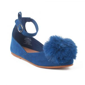 Old Navy Blue Fur Pumpy Shoes