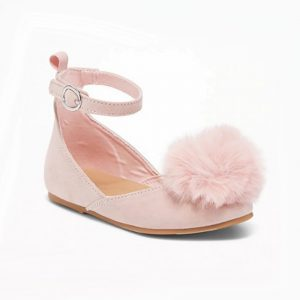 Old Navy Pink Fur Pumpy shoes