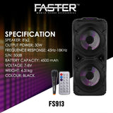 "Bluetooth Outdoor Speaker | With Wireless MIC | Mehfil Speaker | Dual 8"" Speakers👍 