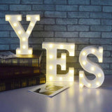 2 Piece Led Letter Light Marquee Alphabet Decorative Light Party & Wedding (Mention Your Letters In Comment) | 24hours.pk