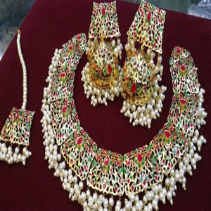 Vintage Design Necklace Set Multicolor Color Stones For Her 941156 | 24hours.pk