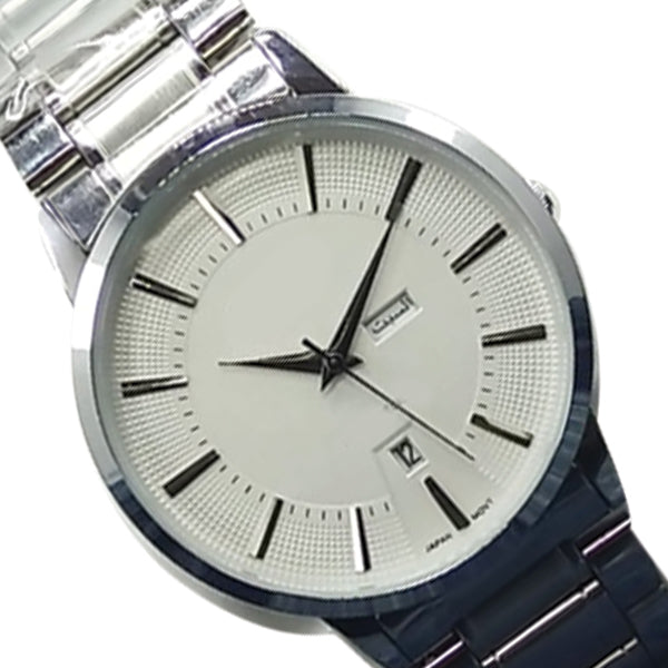 Latest Luxury Wrist Watch With Day & Date Function Silver Chain With White Dial 56421 | Ammad