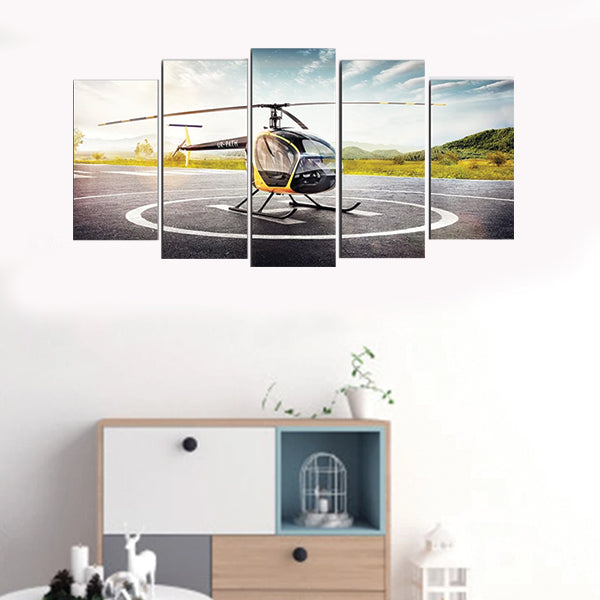 Helicopter Landing Small 5Pcs 3D Wall Frame AJ-015