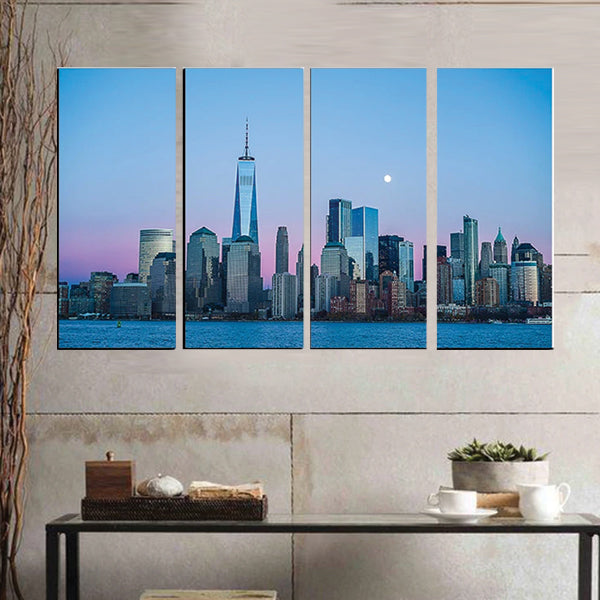 Lofi City Hip Hop 4 Pcs 3d Small Wall Frame AJ-020 | Framerstore.com