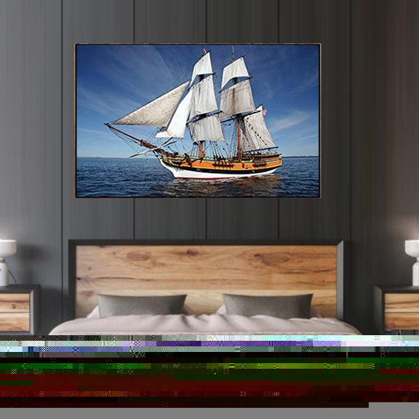 Lady Washington Tall Ship 3d Single Landscape Wall Frame SIF-063