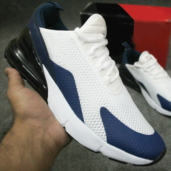 Latest Design 270 Sneakers Blue & White For Men's | 24hours.pk