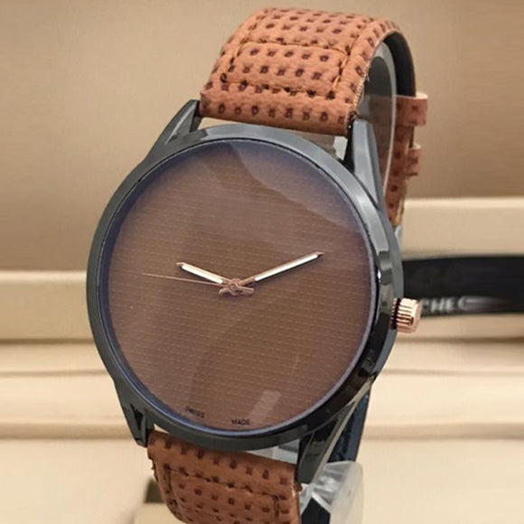Latest Stylish High Quality Brown Dial & Strap Watch For Men's 598211