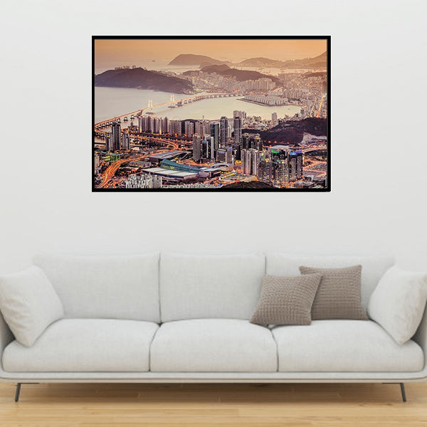 Busan South Korea 3d Single Landscape Wall Frame AJ-015 | Framerstore.com