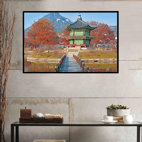 Gyeongbokgung Palace In Autumn South Korea 3d Single Portrait Wall Frame AJ-017 | Framerstore.com
