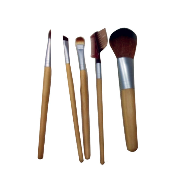 5Pcs Set Cream Puff Toothbrush Makeup Powder Foundation Facial Lip Eyeshadow Brushes Kits