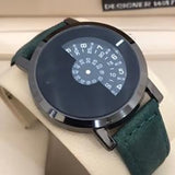 Creative Pattern Camera Concept Short Simple Special Digital Disks Hands Fashion Watch For Unisex Green 8563 | Abdul Basit Janjee