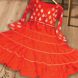 Stylish Frock For Girls Kids Light Red | 24hours.pk
