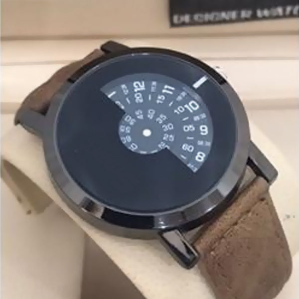 Creative Pattern Camera Concept Short Simple Special Digital Disks Hands Fashion Watch For Unisex Brown 8563 | Abdul Basit Janjee