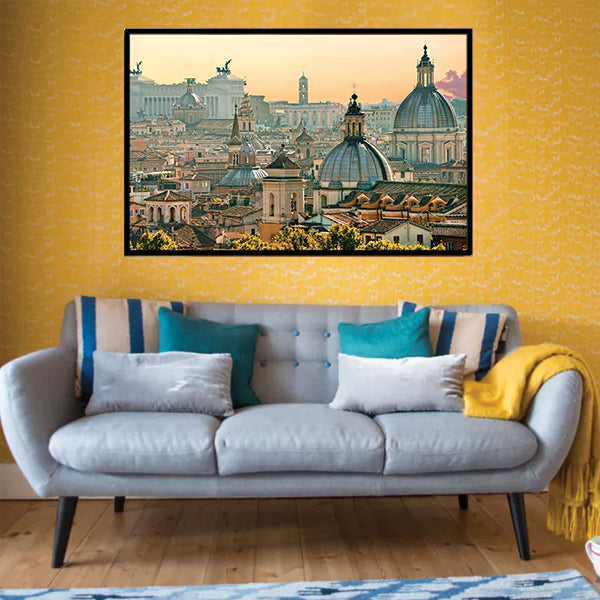 Panorama of Old Town In Rome Italy 3d Single Landscape Wall Frame AJ-014 | Framerstore.com