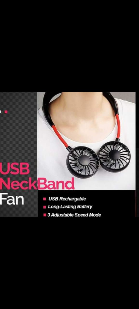 USB Neckband Fan