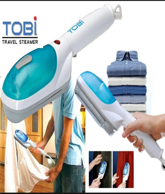 Tobi Portable Travel Steamer - White & Blue