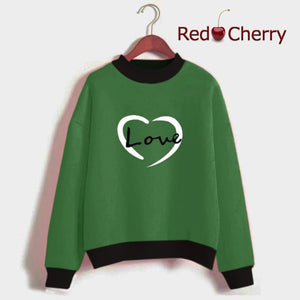 Printed Sweat-shirt Green (RED CHERRY)