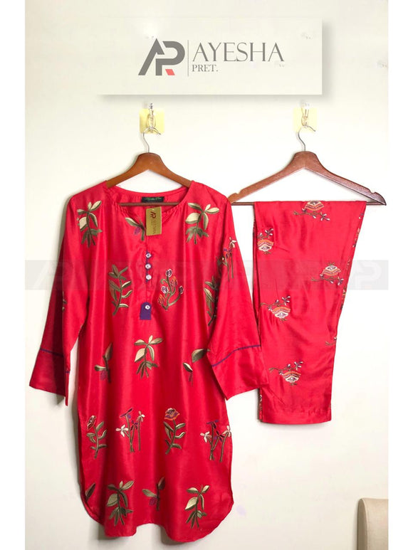 Ladies Suit (2pcs) (RED) Ready to wear
