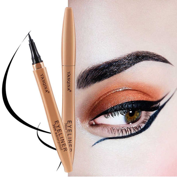 YANQINA 3D Eyeliner Pen Cat Eyes Makeup Black Waterproof Eye Liner Quick Dry Eyelids Drawing Liquid Ink