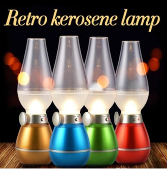 Retro Blow Sensor Led USB Rechargeable Lamp | 24hours.pk